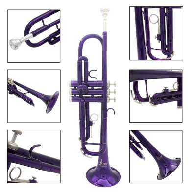 LADE Colorized Trumpet High Quality Instrument Gift for Music Lover