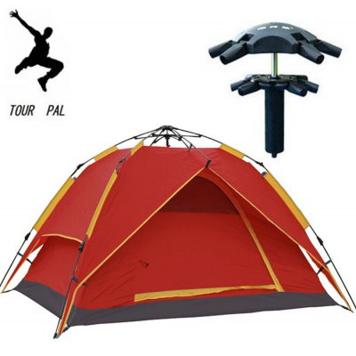 Large Double Layer Automatic Camping Tent