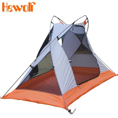 Hewolf Outdoor Single Tent with Triangle Vent Design