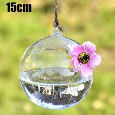 Ball Style Hanging Glass Vase