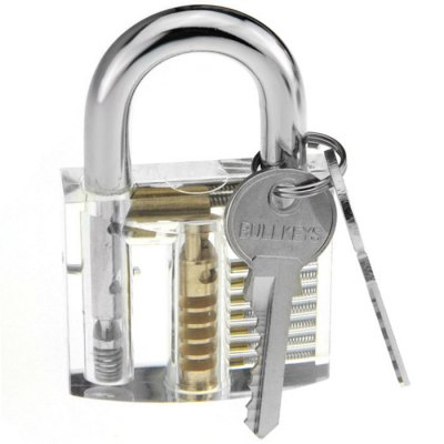 Large Style Transparent Practice Lock Tool Set