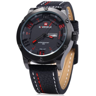 Naviforce 9070 Day Date Display Men Quartz Watch