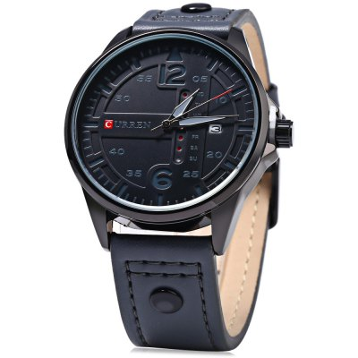 Curren 8224 Day Date Display Men Quartz Watch