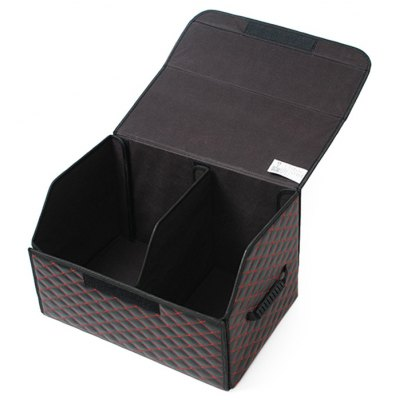 Large Foldable PU Leather Storage Box Case for Car Trunk Back Seat