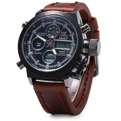 AMST FMD8156 Dual Movt Male LED Sports Watch