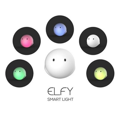 EMIE Elfy Touch Control Bouncy LED Night LightSmart Lighting<br>EMIE Elfy Touch Control Bouncy LED Night Light<br><br>Brand: EMIE<br>Type: Night Light<br>Feature: Rechargeable,Touch Vibration<br>Optional Color: White<br>Numbers of LED: 3<br>Optional Light Color: Colorful<br>Power Supply: USB<br>Input Voltage: DC 5V<br>Product weight: 0.184 kg<br>Package weight: 0.485 kg<br>Product size (L x W x H): 12.90 x 12.50 x 12.50 cm / 5.08 x 4.92 x 4.92 inches<br>Package size (L x W x H): 13.90 x 14.20 x 14.20 cm / 5.47 x 5.59 x 5.59 inches<br>Package Contents: 1 x EMIE Elfy LED Night Light, 1 x USB Cable,  1 x English Manual