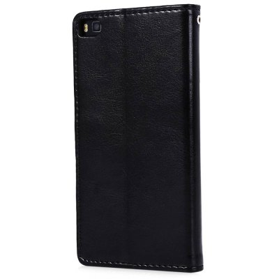 Magnetic Card Slot Wallet Stand Leather Flip Case for Huawei Ascend P8