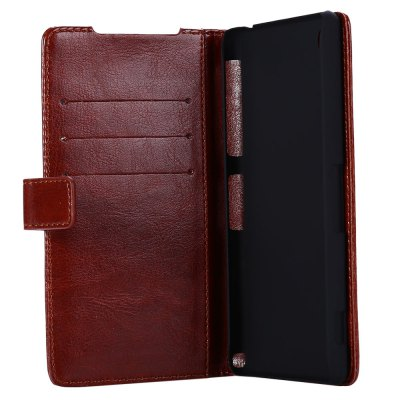 Magnetic Card Slot Wallet Stand Leather Flip Case for Sony Xperia Z2