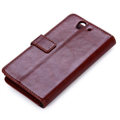 Magnetic Card Slot Wallet Stand Leather Flip Case for Sony Xperia Z / L36H