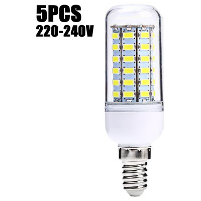 5 x SZFC E14 5.5W SMD 5730 500Lm LED Corn Light