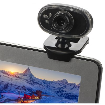 A881 360 Degree Rotatable 0.3MP HD Webcam 640 x 480 Resolution with Blue Light