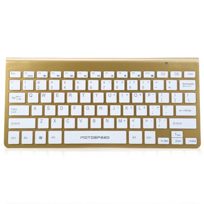 Motospeed G9800 2.4G Wireless Keyboard and Optical Mouse ComboKeyboards<br>Motospeed G9800 2.4G Wireless Keyboard and Optical Mouse Combo<br><br>Type: Keyboard and Mice<br>Features: Slim<br>Material: ABS<br>Color: Gold,Black,White<br>Resolution: 1200DPI<br>Interface: Wireless<br>Connection: Wireless<br>Receiver: With<br>Package weight: 0.565 KG<br>Package size (L x W x H): 39.500 x 16.000 x 4.500 cm / 15.551 x 6.299 x 1.772 inches<br>Package Contents: 1 x Keyborad, 1 x Mouse, 1 x USB Receiver