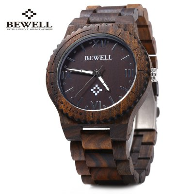 Bewell ZS - W065A Male Wooden Watch