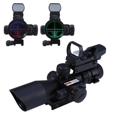 2.5 - 10X40 Hunting Tactical Riflescope Red / Green Laser