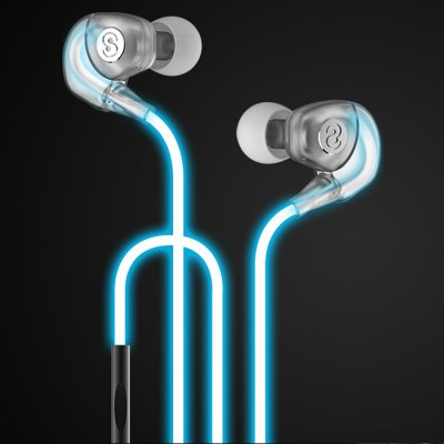 Sound Simple Play In-ear Sport Flash Earphones Super Bass with Mic