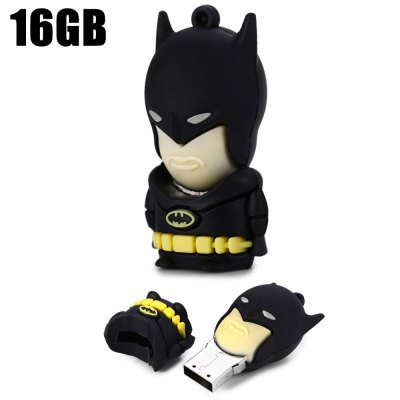 16GB All-black Batman USB 2.0 Flash Disk