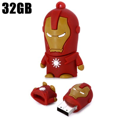16GB Iron Man USB 2.0 Flash Disk Stick / Flash Memory Drive
