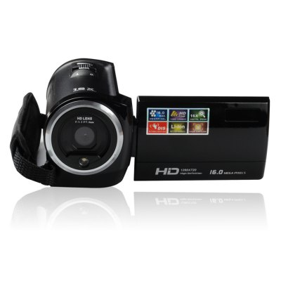 ORDRO DV-107 2.7inch  LCD Digital Video Camera HD Camcorder DVCamcorders<br>ORDRO DV-107 2.7inch  LCD Digital Video Camera HD Camcorder DV<br><br>Brand: Ordro<br>Pixel: &gt;1300w<br>Screen size (inch): 2.7<br>Touch screen: No<br>Memory support : SD card<br>Storage medium: Flash memory DV<br>External memory storage(Maximum, not included): SD card up to 32GB<br>Sensor size (inch): 1/3.2<br>Sensor: CMOS<br>Lens: 270 Degree<br>Image resolutions: 3072 x 2304 (7MP),2048 x 1536 (3MP),1600 x 1200 (2MP),2560 x 1920 (5MP),4608 x 3456(16MP),4000 x 3000 (12MP),3648 x 2736 (10MP)<br>Video Resolution: 320 x 240,1080 x 720,1280 x 720,640 x 480<br>Digital zoom: 16X<br>HD video: 1280 x 720<br>Function mode: Capture,Video<br>LED light: LED&lt;1.0M, Open / Close<br>Aperture: F/3.2, f=7.6mm<br>Focus Range: 1.2m ~ infinity<br>White Balance: Automatic,Florescent light,Tungsten light,Sunlight,Cloudy<br>Scenes: Auto<br>File format: JPEG,AVI<br>Image quality: Good<br>ISO: 100,200,400,Auto<br>Exposure Compensation: -3.0~3.0<br>Self-timer: 10s,5s,2s,Auto<br>TV System : PAL,NTSC<br>Microphone: Built-in<br>Loudspeaker: Built-in<br>Interface: SD Card Slot,USB interface,TV output interface<br>Power Sources: Li-ion battery NP-40<br>Other Functions: Face Detection<br>Auto power off: Yes<br>Product weight: 0.280 kg<br>Package weight: 0.670 kg<br>Product size (L x W x H): 5.600 x 6.400 x 12.000 cm / 2.205 x 2.520 x 4.724 inches<br>Package size (L x W x H): 8.000 x 12.000 x 18.000 cm / 3.150 x 4.724 x 7.087 inches<br>Package Contents: 1 x Ordro DV-107 Digital Video Camera, 1 x Battery, 1 x US Plug USB Chargar, 1 x USB Cable, 1 x TV Cable, 1 x English User Manual