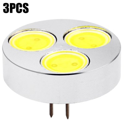 3pcs SZFC 3cm G4 4.5W 3 x COB 450Lm LED Light Bulb