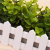 cheap Wooden Fence Simulation Plant Potted
