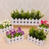 Wooden Fence Simulation Plant Potted deal