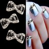 10pcs Bowtie Design Rhinestone 3D Alloy Beauty DIY Nail Jewelry Art Decoration for sale