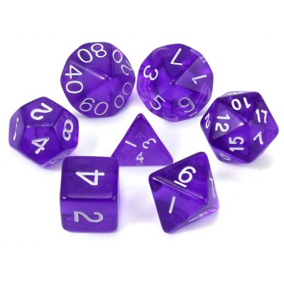 Dungeons and Dragons Transparent Polyhedral Dice 7Pcs / Set