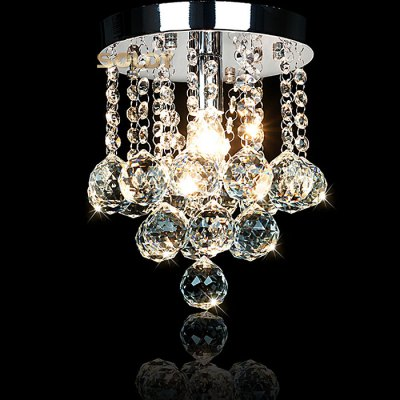LightMyself Crystal Bead Curtain Chandelier Lamp
