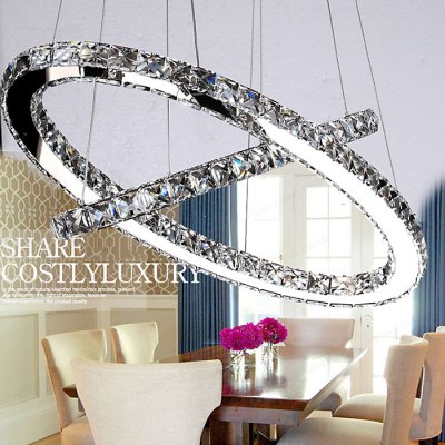 LightMyself 46W 3000Lm Diamond Ring LED Crystal Chandelier