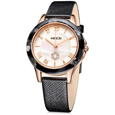 KEZZI KW-1177 Flower Decoration Japan Quartz Ladies Watch