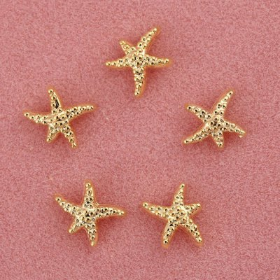 10pcs Starfish Design Metal Nail Art Decoration