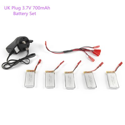 5 x 3.7V 700mAh Battery + Charger / JST Cable Set for RC Model