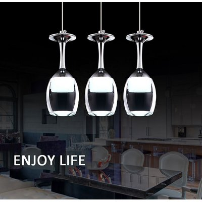 LightMyself 3W 250LM Pendant Lamp with Goblet Shape lightmyself crystal pendant lights pendant lamp modern lighting 7 87xh29 52 inch for dining room hotel room parlor study