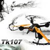 TK TK107W WIFI FPV HD 2.0MP Camera 2.4GHz 4 Channel 6 Axis Gyro Quadcopter 360 Degree Rollover deal