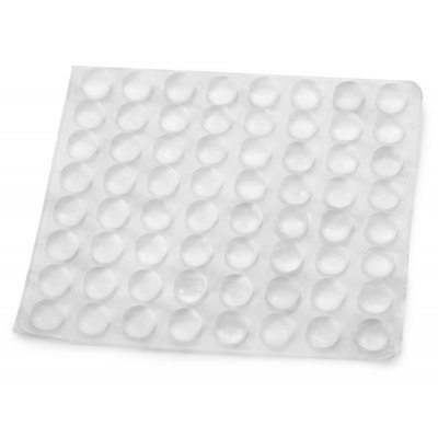 Full Function DIY PVC Anti - Collision Silicone Pad with 3M Sticker for Connectors Terminals  -  64PCS