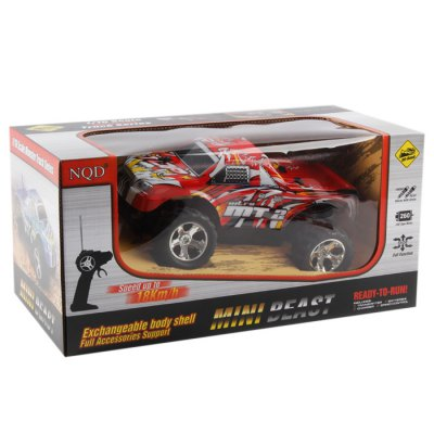 XINQIDA 757 Off-road TruckRC Cars<br>XINQIDA 757 Off-road Truck<br><br>Type: RC Trucks<br>Features: Radio Control<br>Functions: Full function<br>Material: Electronic Components,Plastic<br>Age: Above 10 years old<br>Remote Control: Radio Control<br>Control Distance: 40~50m<br>Transmitter Power: 2 x 1.5V AA battery(included)<br>Car Power: Built-in rechargeable battery<br>Charging time: 60<br>Racing Time: &gt;10mins<br>Package weight: 0.670 kg<br>Package size (L x W x H): 37.000 x 19.500 x 18.500 cm / 14.567 x 7.677 x 7.283 inches<br>Package Contents: 1 x Off-road Buggy, 1 x Transmitter, 1 x Charger, 1 x 4.8V 700mA Car Battery, 2 x 1.5V AA Battery, 1 x Transmitter Antenna