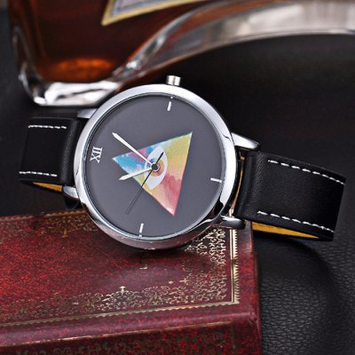 KEZZI BSL884 Unisex Japan Quartz Triangle Pattern WatchUnisex Watches<br>KEZZI BSL884 Unisex Japan Quartz Triangle Pattern Watch<br><br>People: Unisex table<br>Watch style: Fashion<br>Available color: Red,Blue,Yellow<br>Shape of the dial: Round<br>Movement type: Quartz watch<br>Display type: Analog<br>Case material: Stainless Steel<br>Band material: PU Leather<br>Clasp type: Pin buckle<br>The dial thickness: 1.1 cm / 0.43 inches<br>The dial diameter: 3.9 cm / 1.54 inches<br>The band width: 1.6 cm / 0.63 inches<br>Product weight: 0.040 kg<br>Package weight: 0.070 kg<br>Product size (L x W x H): 24.000 x 4.000 x 1.100 cm / 9.449 x 1.575 x 0.433 inches<br>Package size (L x W x H): 25.000 x 5.000 x 2.100 cm / 9.843 x 1.969 x 0.827 inches<br>Package Contents: 1 x KEZZI BSL884 Watch