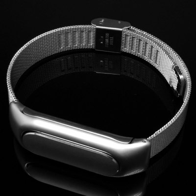 No Screw  Installation Milanese Style Steel Strap for Xiaomi Miband / 1SSmart Watch Accessories<br>No Screw  Installation Milanese Style Steel Strap for Xiaomi Miband / 1S<br><br>Type: Smart watch / wristband band<br>Vailable brand: Xiaomi<br>Features: Anti-lost design<br>Material: Stainless Steel<br>Color: Silver<br>Product weight: 0.040 kg<br>Package weight: 0.090 kg<br>Product size (L x W x H): 24.00 x 1.35 x 1.00 cm / 9.45 x 0.53 x 0.39 inches<br>Package size (L x W x H): 9.00 x 9.00 x 2.00 cm / 3.54 x 3.54 x 0.79 inches<br>Package Contents: 1 x Watchband for Xiaomi Miband, 1 x Box