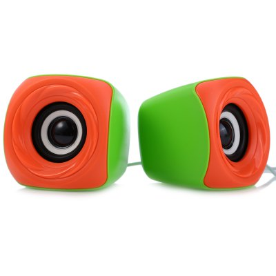 EZEEY T11 3.5mm USB Powered Computer SpeakerSpeakers<br>EZEEY T11 3.5mm USB Powered Computer Speaker<br><br>Brands: EZEEY<br>Model: T11<br>Design: Fun,Multifunctional,Portable,Stylish<br>Compatible with: Mobile phone,PC,MP4,MP3,MP5,Laptop,Tablet PC<br>Supports: Volume Control<br>Functions: AUX Function<br>Connection: Wired<br>Interface: USB2.0,3.5mm Audio<br>Audio Source: Electronic Products with 3.5mm Plug<br>Material: ABS,Electronic Components<br>Color: Multi-color<br>Speaker Impedance: 4 ohm<br>Power Output: 3W x 2<br>Freq: 80Hz-20KHz<br>S/N: No less than 80db<br>Distortion: No more than 0.5 percent<br>Charging Voltage: DC 5V<br>Package weight: 0.310 kg<br>Package size (L x W x H): 16.500 x 8.500 x 8.500 cm / 6.496 x 3.346 x 3.346 inches<br>Package Contents: 1 x EZEEY T11 3.5mm USB Powered Computer Speaker for Desktop Laptop Notebook PC