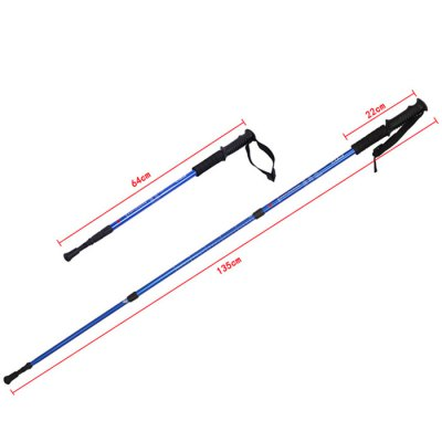 AOTU Three Sections Alpenstock for Mountaineering