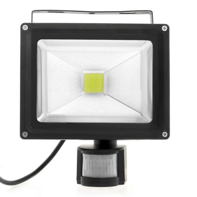 BRELONG 20W 1800Lm Waterproof PIR LED Flood Light