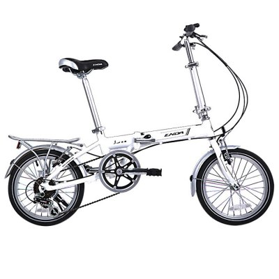 ENDA 16 inches Variable Speed Folding BicycleBikes<br>ENDA 16 inches Variable Speed Folding Bicycle<br><br>Brand: ENDA<br>Type: Folding Bicycle<br>Wheel Size: 16 inches<br>Frame material : Aluminum Alloy<br>Braking System: Double V Brake<br>Color: Red,Black,White<br>Product weight: 11.500 kg<br>Package weight: 13.000 kg<br>Product size: 120.000 x 100.000 x 52.000 cm / 47.244 x 39.370 x 20.472 inches<br>Package size: 75.000 x 65.000 x 32.000 cm / 29.528 x 25.591 x 12.598 inches<br>Package Content: 1 x ENDA 16 inches Variable Speed Folding Bicycle