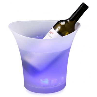 5L Colorful LED Ice Bucket Champagne Wine Beer Plastic Luminous Cooler