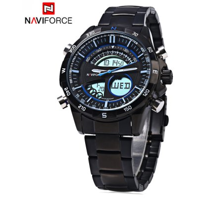 Naviforce 9031 Men Dual Movement Watch