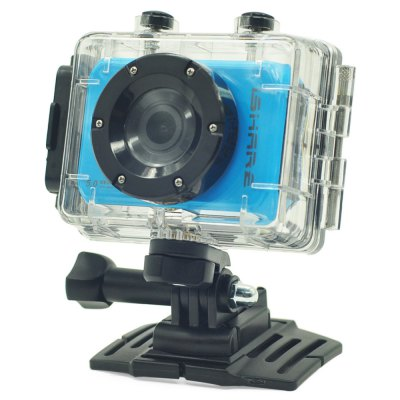 iShare S200 1080P 5MP 140 Degree FHD Action Camera Car DVRAction Cameras<br>iShare S200 1080P 5MP 140 Degree FHD Action Camera Car DVR<br><br>Model: S200<br>Type: Sports Camera,Full HD Dashcam<br>Chipset Name: Novatek<br>Chipset: Novatek 96220<br>Max External Card Supported: TF 32G (not included)<br>Class Rating Requirements: Class 6 or Above<br>Screen size: 2.0inch<br>Screen type: LCD<br>Battery Type: Built-in<br>Capacity: 700mAh<br>Charge way: USB charge by PC<br>Working Time: About 80min at 1080P 25fps<br>Wide Angle: 140 degree wide angle<br>Camera Pixel : 5MP<br>Video format: AVI<br>Video Resolution: 1080P (1920 x 1080),720P (1280 x 720)<br>Video System: PAL,NTSC<br>Video Output : AV-Out,HDMI<br>Image Format : JPEG<br>Audio System : Built-in microphone/speacker (AAC)<br>Waterproof: Yes<br>Water Resistant: 15m<br>Loop-cycle Recording : Yes<br>Loop-cycle Recording Time: OFF,1min,3min,5min<br>HDMI Output: Yes<br>Interface Type: AV-Out,Micro USB,HDMI<br>Product weight: 0.075 kg<br>Package weight: 0.500 kg<br>Product size (L x W x H): 7.200 x 4.700 x 2.200 cm / 2.835 x 1.850 x 0.866 inches<br>Package size (L x W x H): 27.500 x 16.000 x 12.000 cm / 10.827 x 6.299 x 4.724 inches<br>Package Contents: 1 x iShare S200 Action Camera, 1 x Waterproof Housing, 1 x Wrist Belt, 1 x Wrist Mount + Long Screw, 1 x 1/4 Adapter, 1 x Bike Handlebar Holder, 1 x J-Shape Arm + Long Screw, 2 x Short Connector + Sho