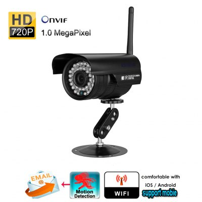 Sinocam 720P Waterproof WLAN Wireleess 1.0 Megapixel ONVIF Security CCTV WiFi IP Camera