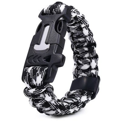 ФОТО 5 Functions in 1 Outdoor Survival Paracord Bracelet
