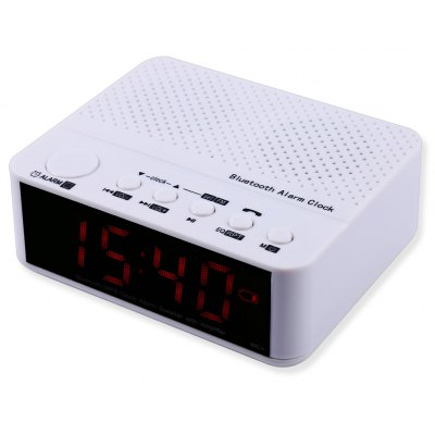 MX - 017 Portable Desktop Alarm Clock Bluetooth V2.1 Stereo Speaker