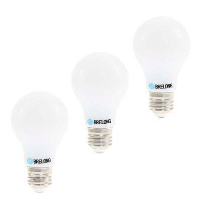 3PCS BRELONG 5W E27 SMD 2835 450Lm LED BulbLED Light Bulbs<br>3PCS BRELONG 5W E27 SMD 2835 450Lm LED Bulb<br><br>Brand: BRELONG<br>Holder: E27<br>Type: Ball Bulbs<br>Output Power: 5W<br>Emitter Types: SMD 2835<br>Total Emitters: 28<br>Luminous Flux: 450LM<br>CCT/Wavelength: 520-530nm,620-640nm,360-380nm,3000-3500K,6000-6500K,460-470nm<br>Voltage (V): AC 85-265/50-60Hz<br>Angle: 360 degree<br>Features: Energy Saving,Long Life Expectancy<br>Function: Home Lighting,Commercial Lighting,Studio and Exhibition Lighting<br>Available Light Color: Red,Blue,Green,Pink,White,Warm White<br>Product weight: 0.065 kg<br>Package weight: 0.265 kg<br>Product size (L x W x H): 10.500 x 6.000 x 6.000 cm / 4.134 x 2.362 x 2.362 inches<br>Package size (L x W x H): 11.600 x 13.000 x 13.000 cm / 4.567 x 5.118 x 5.118 inches<br>Package Contents: 3 x BRELONG E27 LED Bulb
