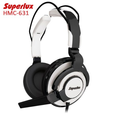 Superlux HMC-631 Professional-grade PC Gaming Headset with MicGaming Headphones<br>Superlux HMC-631 Professional-grade PC Gaming Headset with Mic<br><br>Brand: Superlux<br>Model: HMC-631<br>Color: Red,Gray,White<br>Wearing type : Headband<br>Function: Microphone,Noise Cancelling,Answering Phone,Voice control<br>Headset type: Dynamic<br>Connectivity : Wired<br>Application: Mobile phone,Computer,Portable Media Player<br>Plug Type: 3.5mm<br>Cable Length (m): 3M<br>Driver unit: 51mm<br>Frequency response: 20~20KHz<br>Impedance: 40ohms<br>Sensitivity: 102dB<br>Microphone frequency: 80Hz - 15000Hz<br>Microphone impedance : 2.2K ohms<br>Input Power: 1000mW<br>Product weight: 0.350KG<br>Package weight: 0.540 KG<br>Product size (L x W x H): 10.200 x 15.500 x 20.100 cm / 4.016 x 6.102 x 7.913 inches<br>Package size (L x W x H): 12.000 x 20.000 x 22.000 cm / 4.724 x 7.874 x 8.661 inches<br>Package Contents: 1 x Headphones, 2 x 3.5mm Adapters